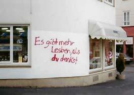 Graffiti: Es gibt mehr Lesben als du denkst